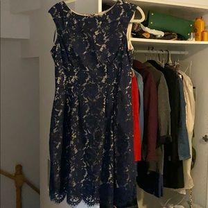 Vince Camuto Dark Blue Lace Dress